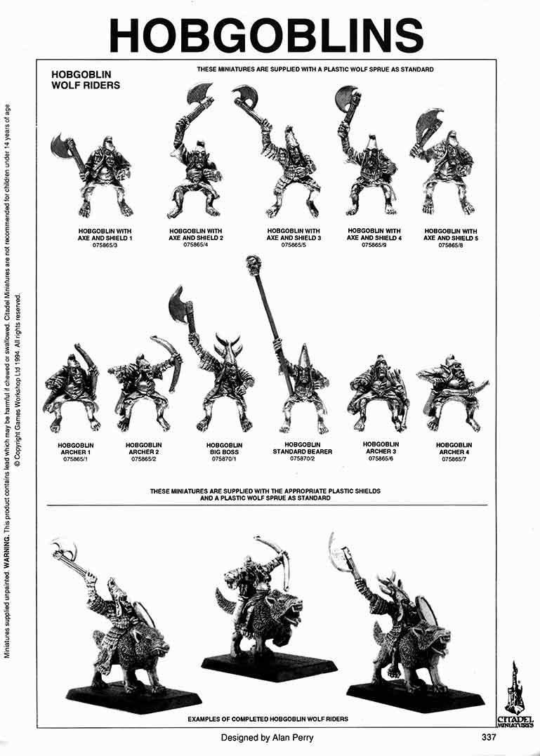 Warhammer Hogoblins Wolf Riders