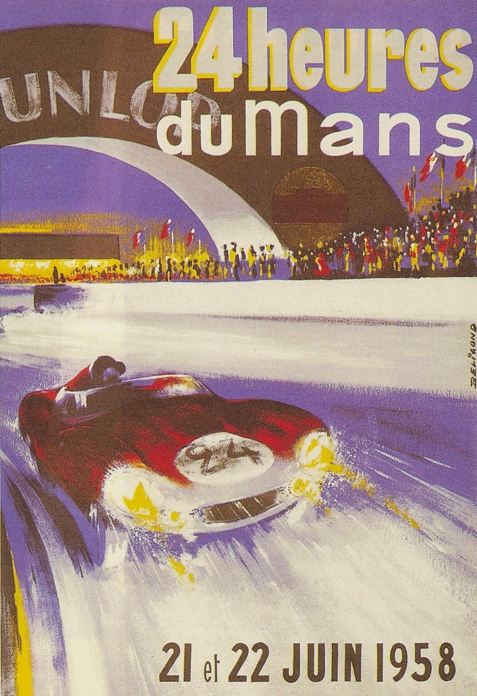 Affiche officielle des 24 Heures du Mans 1958