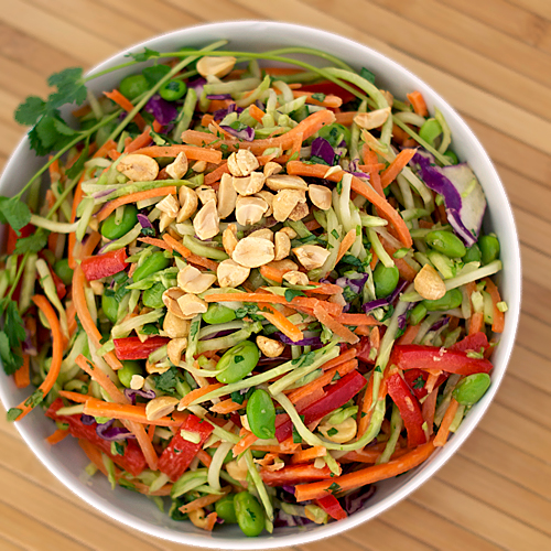 Rainbow Asian Slaw ~ Heat Oven to 350
