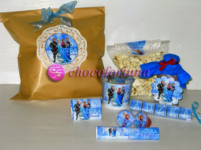 Souvenir coklat Ulang tahun birthday Goodie Bag Princess Elsa Frozen