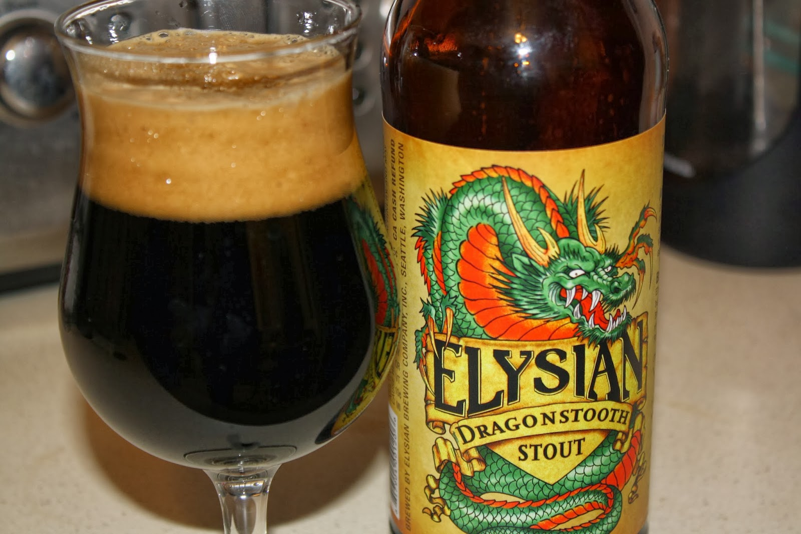 Elysian Brewing, Seattle, Washington, Craft Beer, Dragonstooth Stout