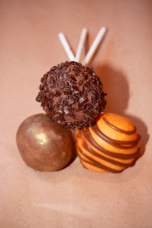 3 chocolate orange cake pops