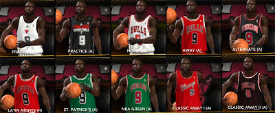 2K13 NBA Bulls Retro Classic Uniforms Mod Patch