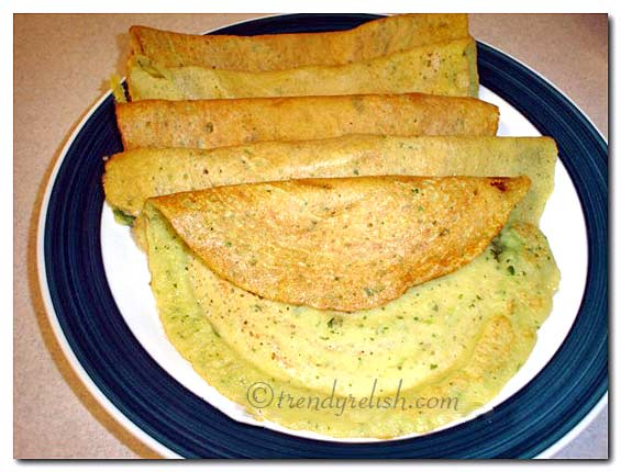 Spicy Pesarattu (Spicy Moong Dal Dosa)