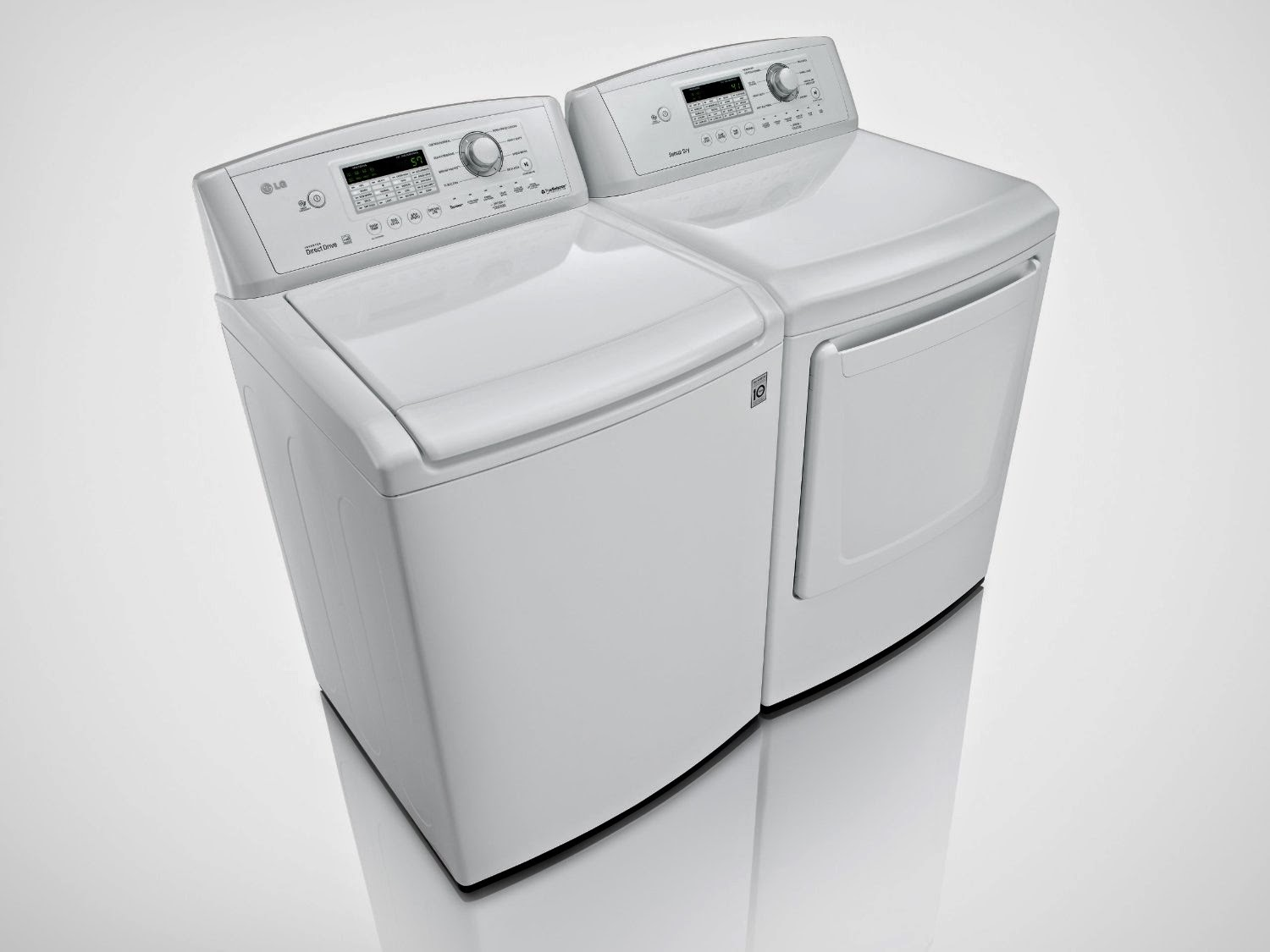 lg top load laundry pair with powerful staincare technology