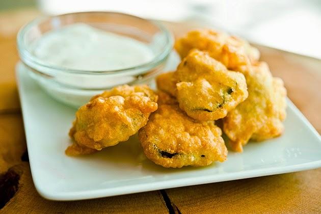 Beer-Batter Fried Pickles