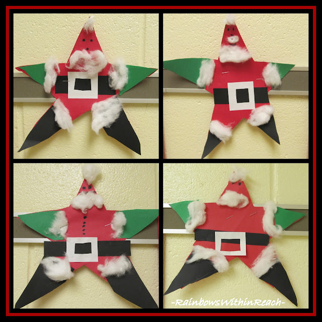 photo of: Santa made from Stars via RainbowsWithinReach