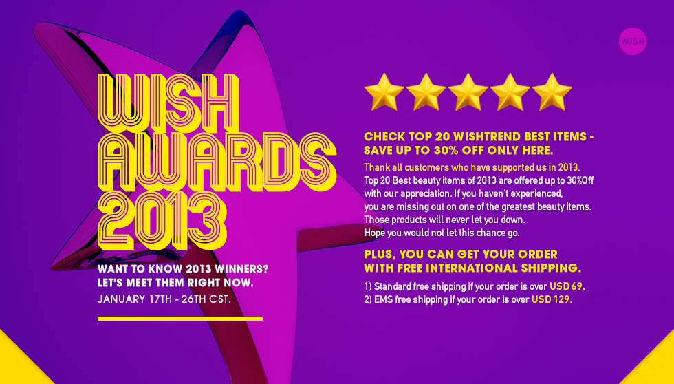 Wishtrend Wish Awards 2013
