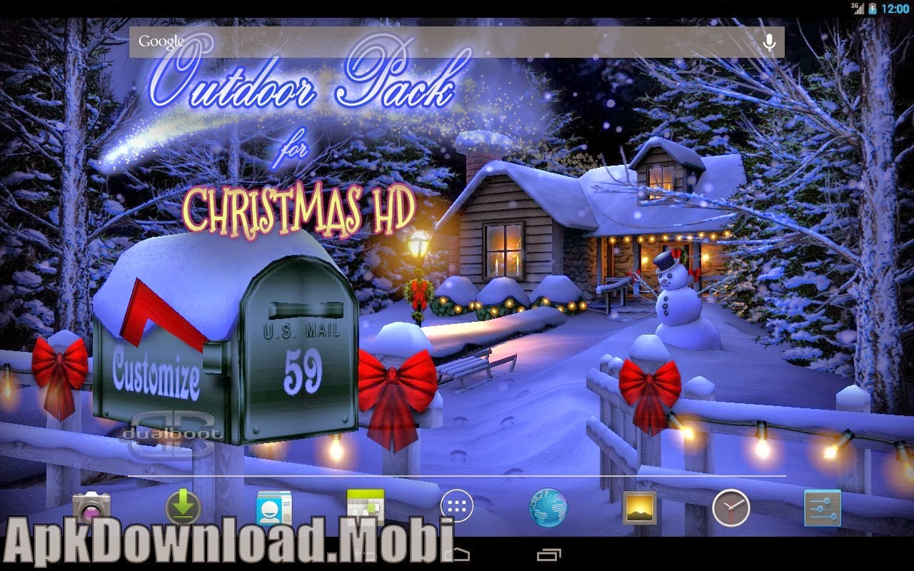 21 3d christmas live wallpaper full apk