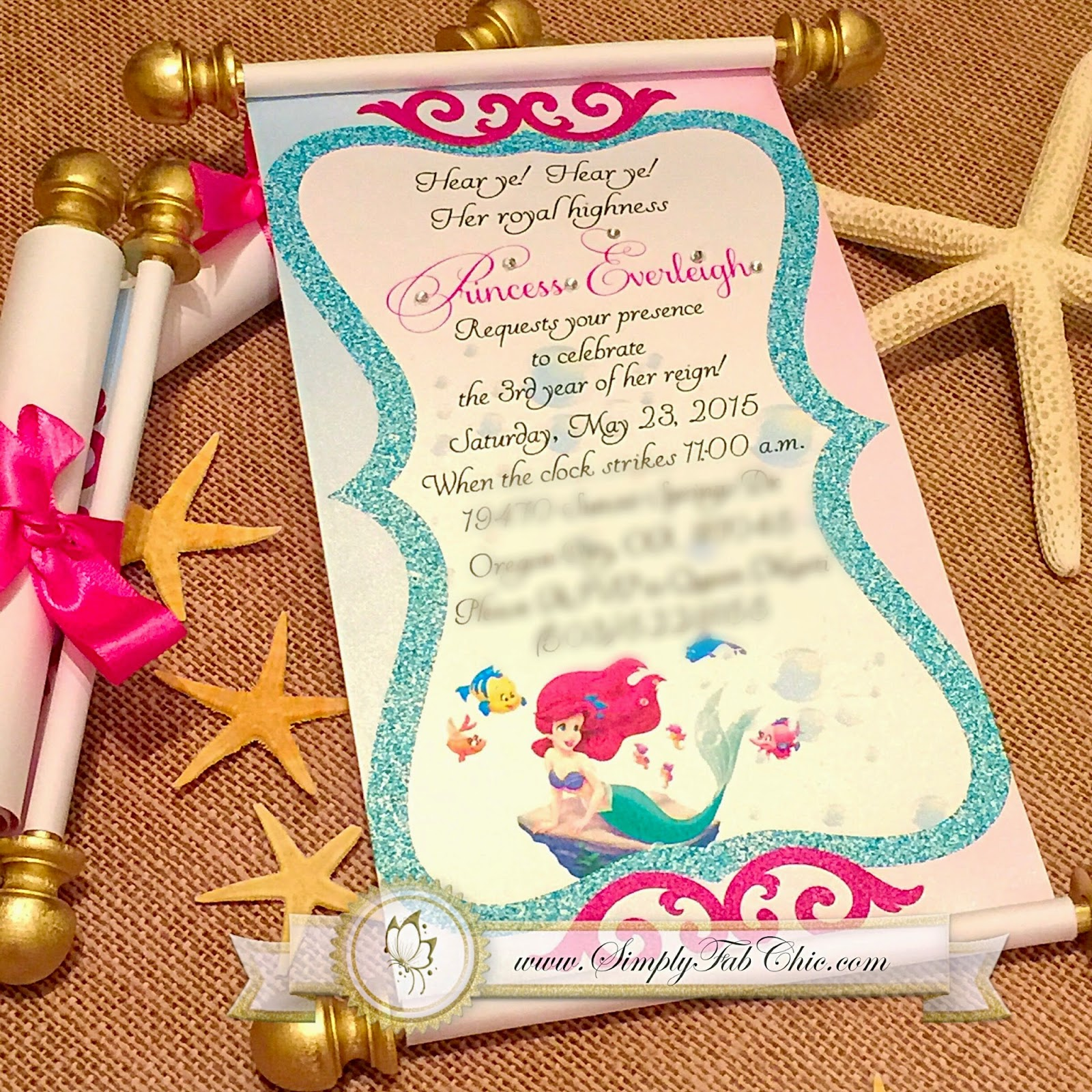 Little Mermaid Under the Sea Royal Princess | Simply Fab & Chic
