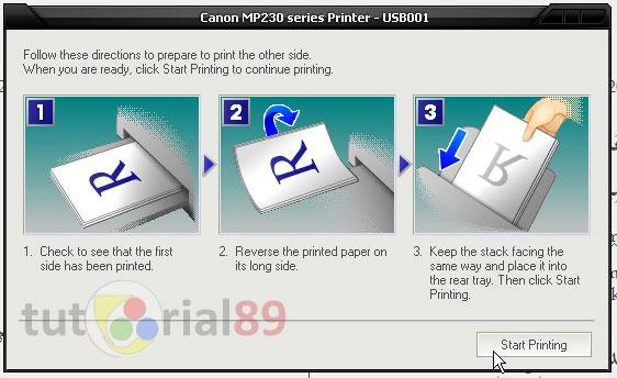 Cara mudah print document word bolak balik otomatis
