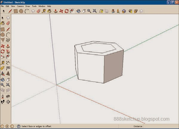 Lesson 9 3 Offsetting Edges With The Offset Tool 888 Sketchup