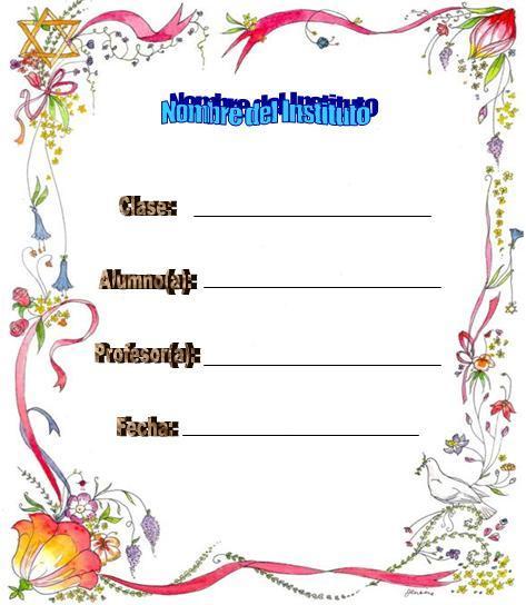 Carátulas para trabajos escolares | Wikisabios