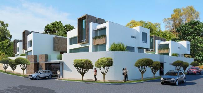 Fachadas de casas modernas render 3d de fachadas de casas for Casas modernas revestidas en piedra