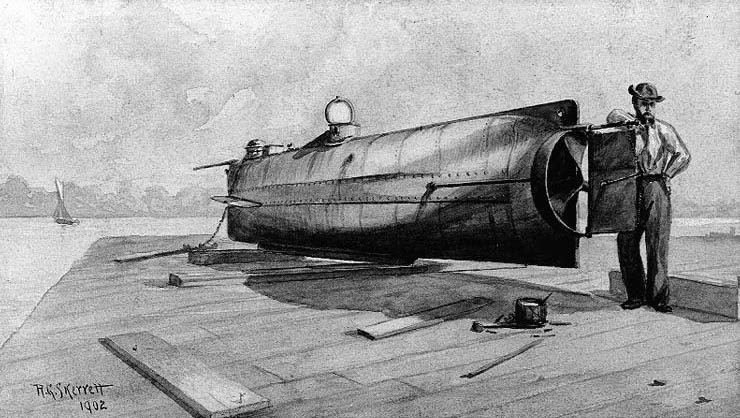 Primer combate Submarino