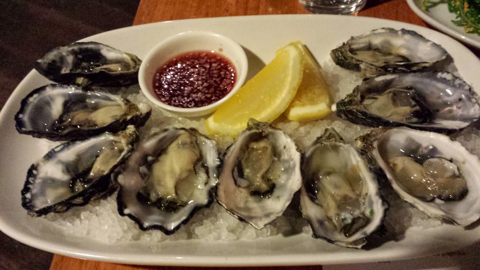 Freshly Shucked Pacific Oysters With A Cabernet Sauvignon Vinegar And Shallot Dressing The Was Deeeelicious Could Have Sculled That On Its Own