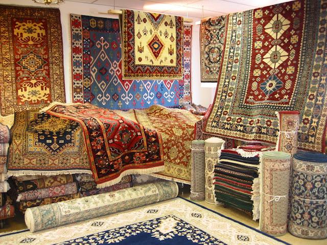 Oriental rugs showroom