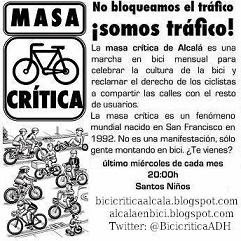 Próxima Bicicrítica: Miércoles 31 de Mayo