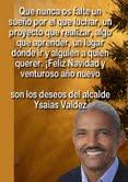 Alcalde Ysaías Valdez envía saludos de felicitaciòn en navidad y año nuevo