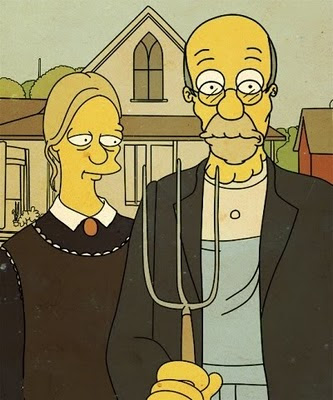 American Gothic Simpsons 