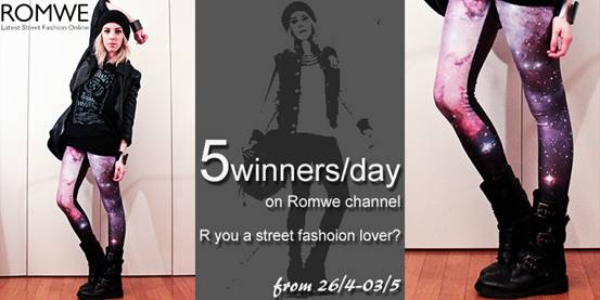 Romwe giveaway on Youtube