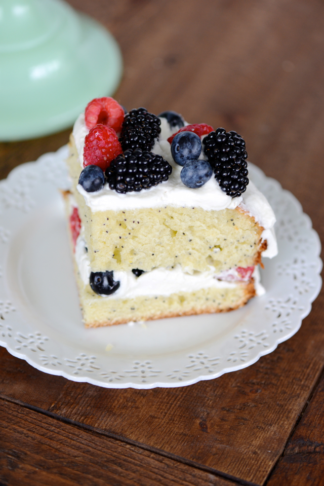 Lemon Poppy Seed Cake with Mascarpone Frosting and Fresh Berries ...