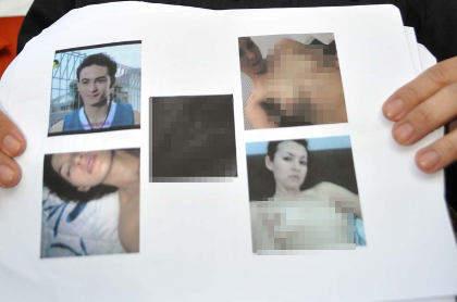 Pada beberapa foto yang dibeberakan nampak Foto farnita telanjang dada ...