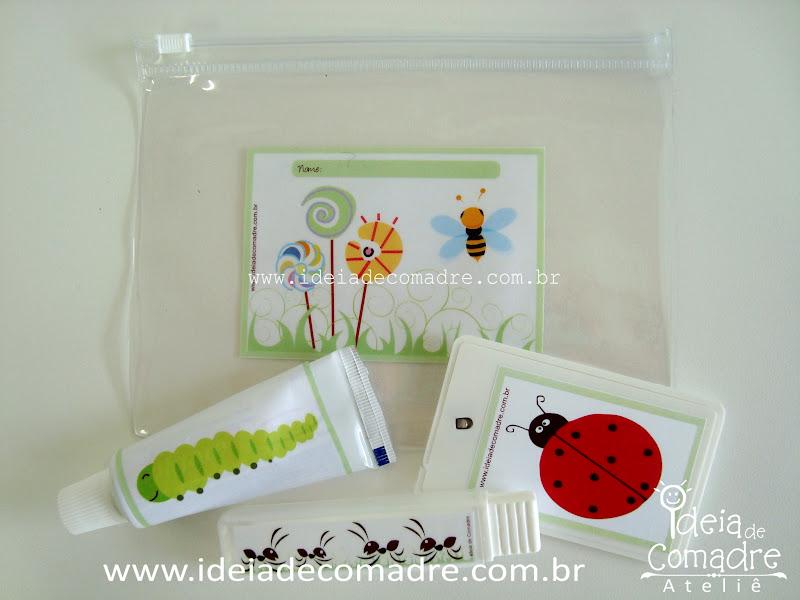 Kit Higiene Para Banheiro Infantil : Kit higiene bucal lembrancinhas para festa infantil ideia