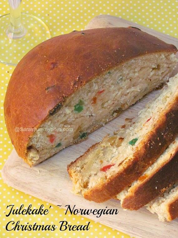 Julekake ~ Norwegian Christmas Bread
