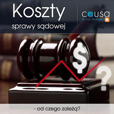 Koszty sprawy sądowej