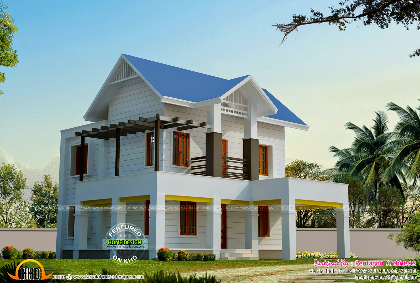 9 beautiful kerala houses by pentagon architects kerala for Beautiful houses pictures in kerala