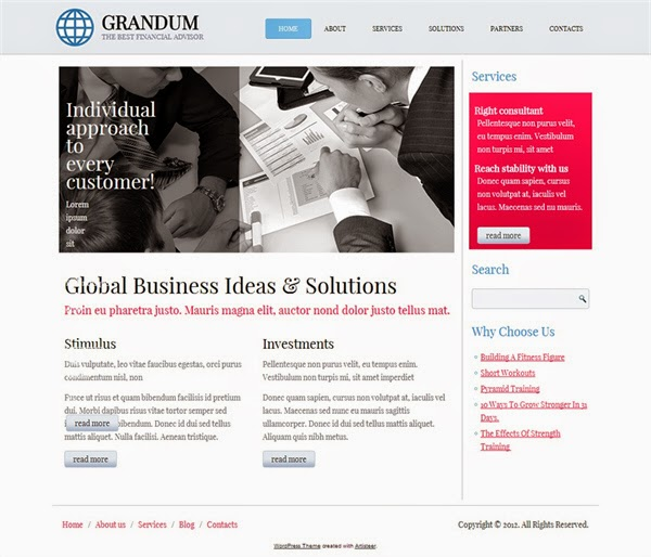 Grandum - Free Wordpress Theme