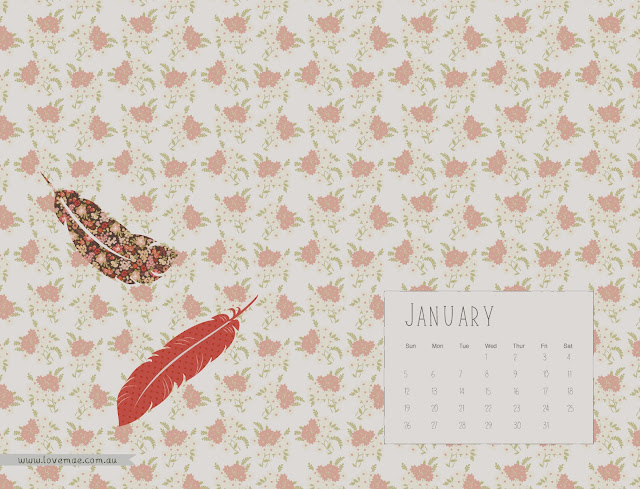 Calendar Wallpaper Love Mae : Welcome the new year with a pretty desktop calendar