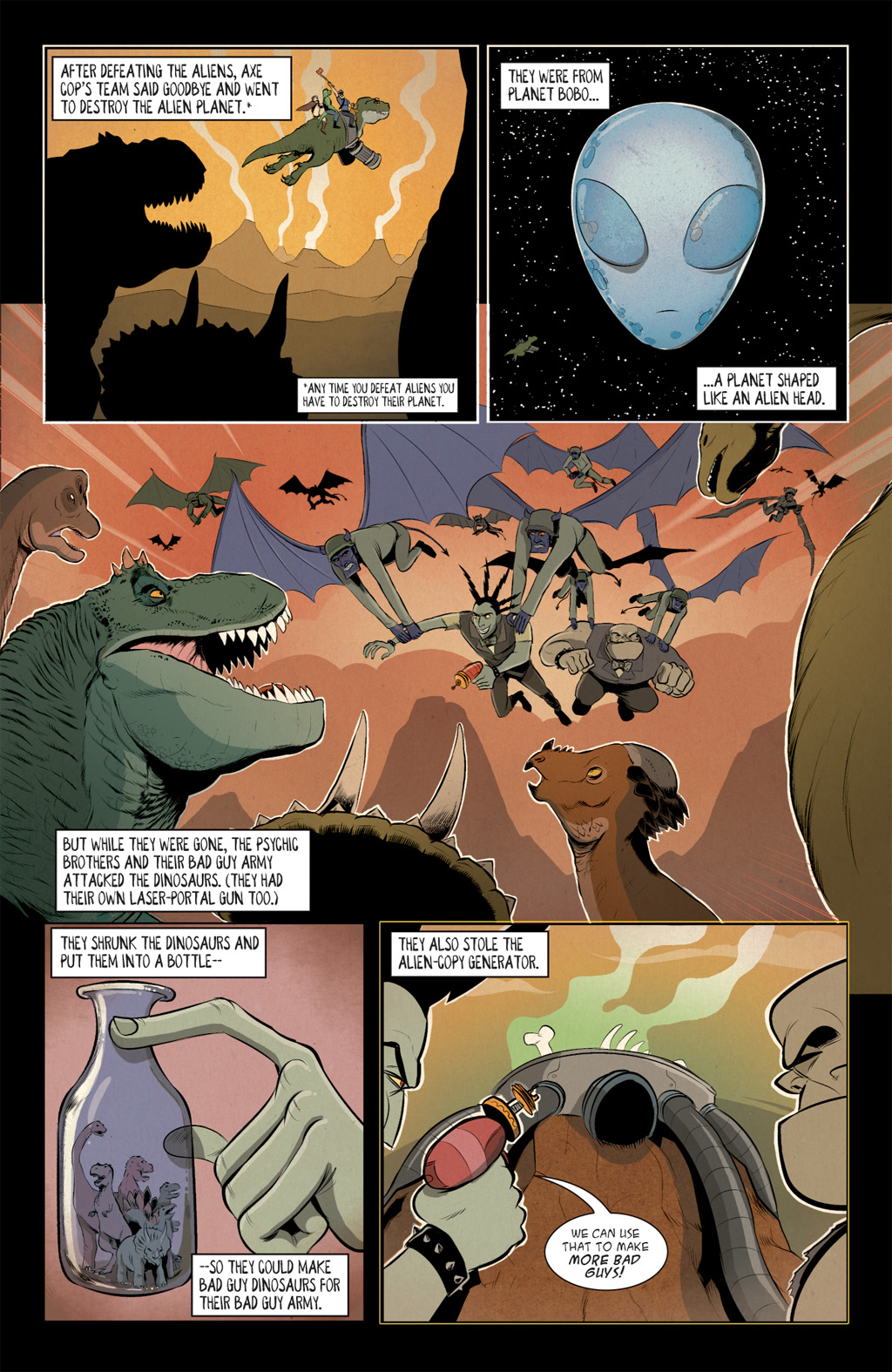Read online Axe Cop: Bad Guy Earth comic -  Issue #2 - 7