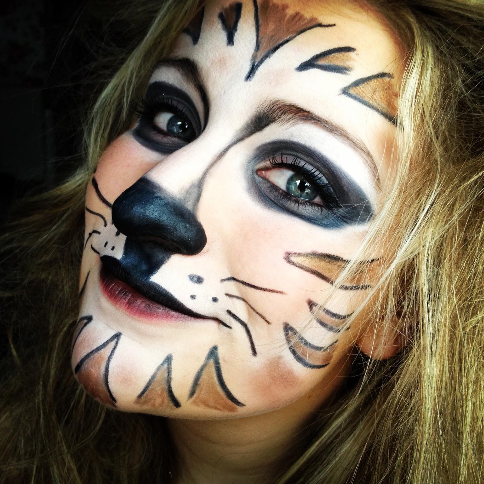 mybeautyworld tiger make up mit normaler kosmetik. Black Bedroom Furniture Sets. Home Design Ideas
