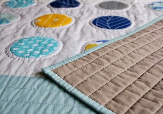 Custom organic baby dots quilt