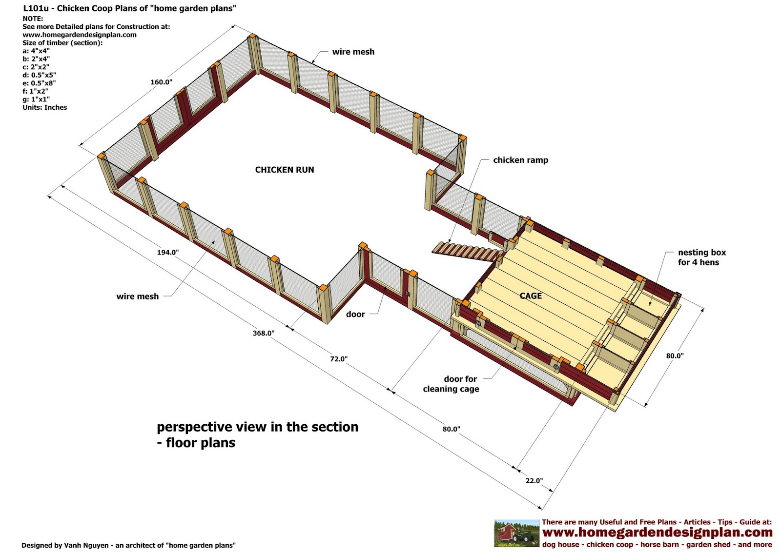 Home garden plans l101 chicken coop plans construction for Free coop plans