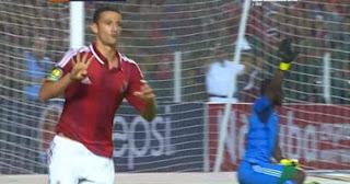 بالفيديو: احمد عبد الظاهر يرفع اشارة رابعة بعد الهدف الثاني فى مباراة الاهلى واورلاندو اليوم