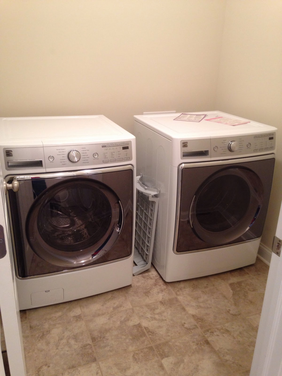 Building with wayne homes in new castle pa appliance day for Under cabinet washer and dryer