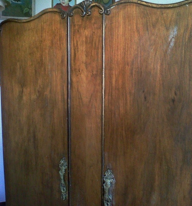 Hecho en casa de julia armario antiguo restaurado - Armarios antiguos restaurados ...