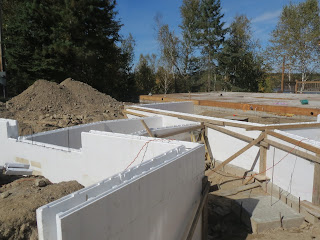 ICF foundation walls for custom lake home near ely MN