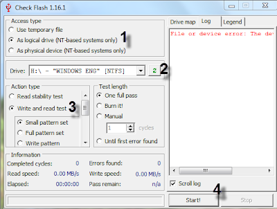 test and detect bad sector in USB flash memory-fix your corrupted usb flash drive
