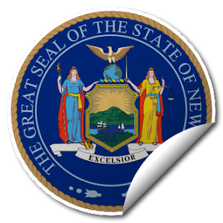 Sticker of New York Seal