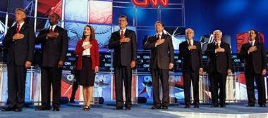 Candidates at GOP debate