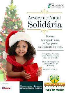Santa Cruz Shopping lança campanha 'Árvore de Natal Solidária'
