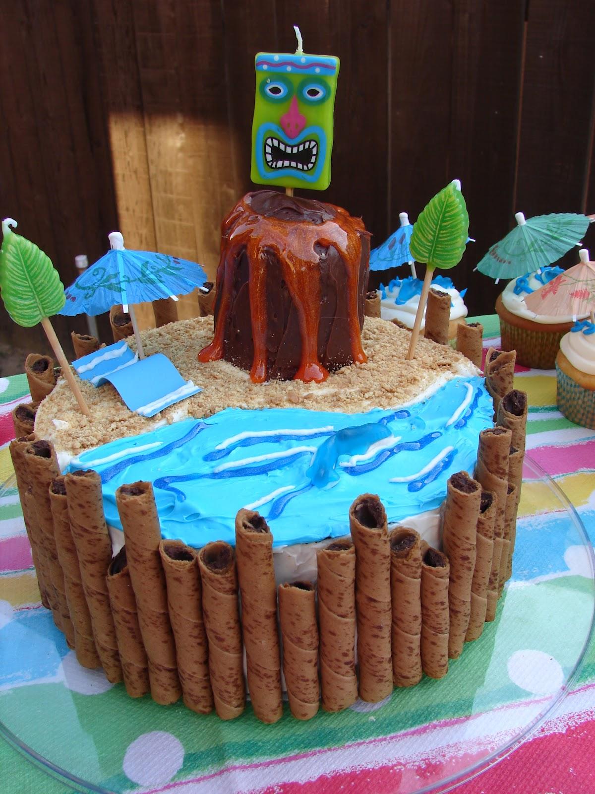 Glitter Glue Glam Diy Luau Birthday Cake