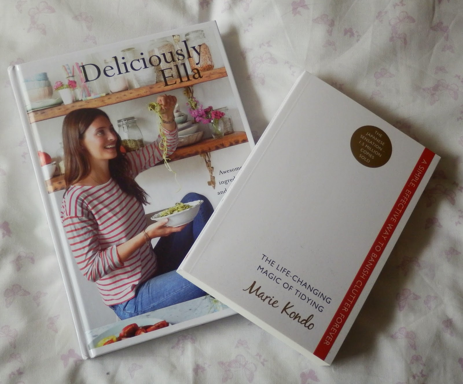 Deliciously Ella by Ella Woodward & The Life-Changing Magic of Tidying by Marie Kondo