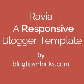 Ravia a Responsive Blogger Theme