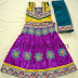 Embroidered Kids Pavada in Purple