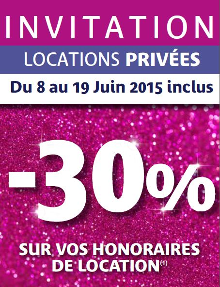 Invitation Locations privées